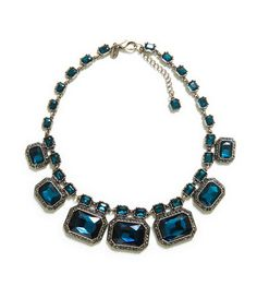 NECKLACE WITH GLASS GEMS