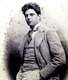 """Pietro Antonio Stefano Mascagni (1863–1945) Italian composer most noted for his operas. His 1890 masterpiece Cavalleria rusticana caused one of the greatest sensations in opera history & single-handedly ushered in the Verismo movement in Italian dramatic music. Some critics held that Mascagni, like Leoncavallo, was a """"one-opera man"""" who could never repeat his first success, but L'amico Fritz & Iris have remained in the repertoire in Europe since their premieres."""