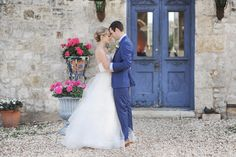 Navy, Gold, and Gray Tuscany In Texas Wedding Style