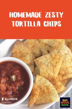 Delicious baked chips and so much healthier than fried!  #homemadechips #chips #tortillachips #bakedchips #snacks