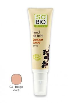 Fond de Teint Bio Longue Tenue SPF15 SO'BiO étic - AyaNature