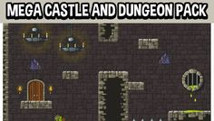 Mega castle and dungeon pack has just been added to GameDev Market! Check it out: http://ift.tt/1R8vGys #gamedev #indiedev