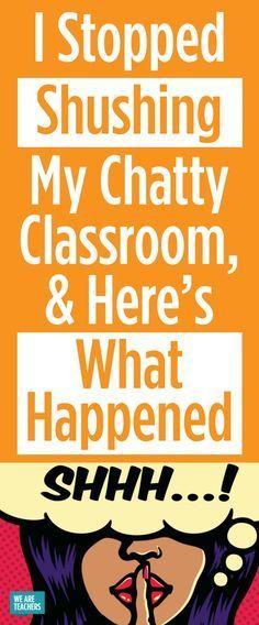How to Quiet a Noisy Classroom - WeAreTeachers High School Classroom, High School Classes, Future Classroom, English Classroom, Elementary Teacher, Elementary Education, Art Education, Classroom Discipline, Classroom Behavior
