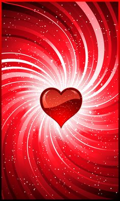 Beautiful red heart embellished in white, Repinned by T.J.D
