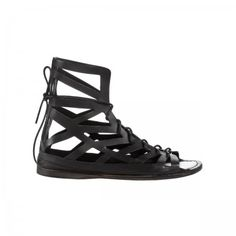 Lacrom - Maria Biandr - Andrea Maria Unisex sandal in calf with drillings.