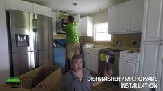 Dishwasher & Microwave Installation - Time Lapse