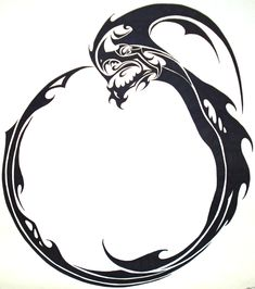 The ouroboros has several meanings interwoven into it. Foremost is the symbolism of the serpent biting, devouring, eating its own tail. This symbolises the cyclic Nature of the Universe: creation out of destruction, Life out of Death. The ouroboros eats its own tail to sustain its life, in an eternal cycle of renewal.  This secondary symbolism in an echo of the concept of infinity, of cycles without end, and an infinite universe without boundaries or limits.