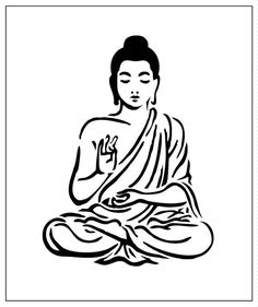 Buddha 5x6 Laser-cut StencilClick the link now to find the center in you with our amazing selections of items ranging from yoga apparel to meditation space decor!