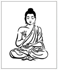 Buddha 5x6 Laser-cut Stencil