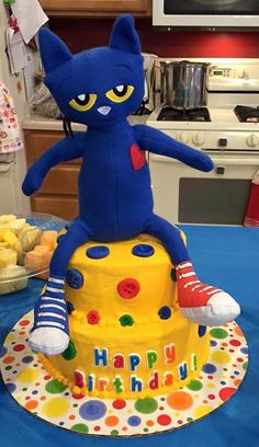 Pete the Cat birthday cake