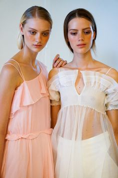 Nastya Kusakina  -- Esther Heesch #Backstage #Models