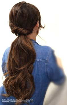 Elegant ponytail updo hairstyle for wedding prom homecoming everyday