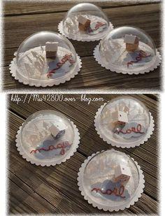 [ Noël ] Décos des demies boules transparentes