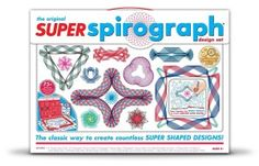 Create amazing art designs with the Spirograph Super Spirograph Design Set. The classic interchangeable Spiro-Tracks allow you to create your own unique patterned shapes, taking your designs to a whole new super level. Original Spirograph, Shape Design, Set Design, Your Design, Toy Store, New Toys, 50th Anniversary, Amazing Art, Shopping