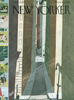 Charles E. Martin : Cover art for The New Yorker 1168 - 5 July 1947