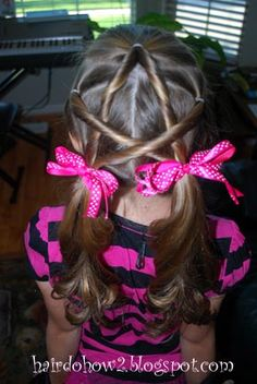 I found this on pinterest and I did it for Callie's hair tonight... doesn't look exactly like this, but it's cute!!  Pics to come