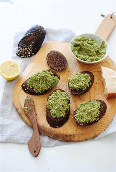 Roasted Broccoli Pesto / Bev Cooks