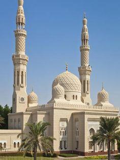 Photographic Print: Jumeirah Mosque, Dubai City Poster by Neale Clark : Mosque Architecture, Ancient Architecture, Amazing Architecture, Gothic Architecture, Dubai City, Dubai Uae, Temples, City Poster, Beautiful Mosques