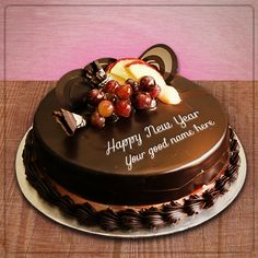 Are you excited to happy new year 2019 cake with name for loved ones? Get free happy new year cake with name into My Name On Pics.Wish friends groups special with happy new year 2019 cake with name Purple Happy Birthday, Happy Birthday Cake Pictures, Happy Birthday Wishes Cake, Elegant Birthday Cakes, Happy Birthday Candles, Happy New Year Wishes, Write Name On Cake, Birthday Cake Write Name, Online Birthday Cake