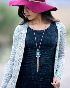 Nellie Pendant Tassel Necklace