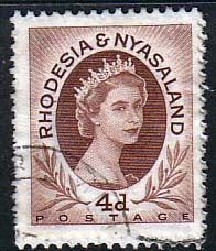 Postage Stamps Rhodesia and Nyasaland 1954 Queen Elizabeth II SG 5 Fine Used SG 4 Scott 145 For For Sale £0.16