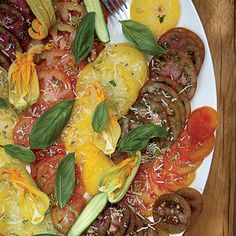 """Heirloom Tomato Salad   """"This is the tomato salad I make almost every day,"""" Andreas Viestad says. Since he always uses different varieties of tomatoes, the salad tastes different each time."""