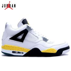 new arrival f6e09 a44c6 314254-171 Air Jordan IV 4 Retro Mens Basketball Shoes White Tour Yellow  A04011,