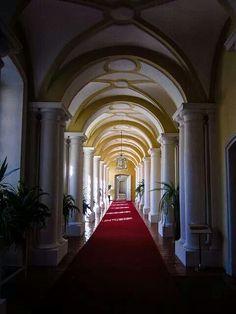 Arches of Rundale palace, Latvia