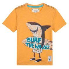 Mantaray Boy's orange surfer shark print t-shirt- at Debenhams.com