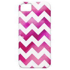 Modern Pink Watercolor Chevron iPhone 5/5s Case