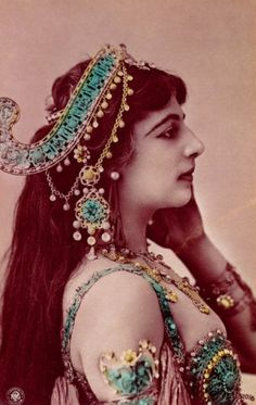 Not movie star but, this is the REAL Mata Hari, check the costume and makeup.