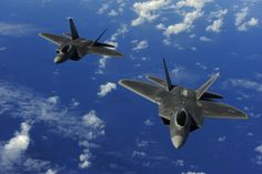 Prevention: U. Air Force Raptors are pictured here in this file photo, two fighter jets intercepted six Russian military airplanes that neared the western coast of Alaska Wednesday Air Fighter, Fighter Jets, F22 Raptor, Us Air Force, Guam, Fighter Aircraft, Canvas Prints, Art Prints, Canvas Art