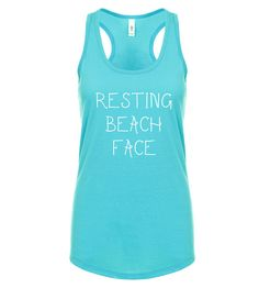 Resting Beach Face TankBeach Tank TopFunny Summer Tank by FITUMI