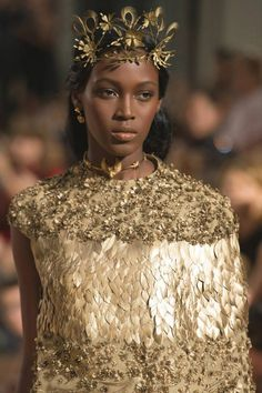 this is hella solarpunk though guys and I love it <<Kai Newman at Valentino Haute Couture Fall/Winter 2015