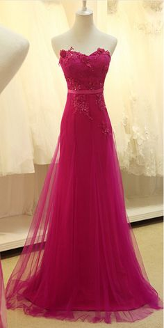 A Line Prom Dress, Tulle Prom Dress, Lace #prom #promdress #dress #eveningdress #evening #fashion #love #shopping #art #dress #women #mermaid #SEXY #SexyGirl #PromDresses
