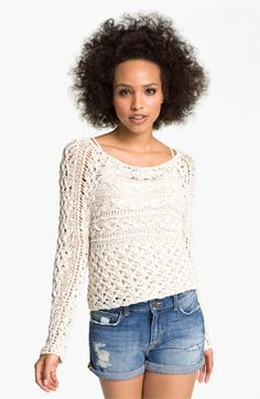 Free People 'Marigold' Mixed Knit Sweater | Nordstrom