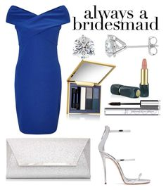 """""""Wedding Blues"""" by foreveryoungstylist08 ❤ liked on Polyvore featuring Miss Selfridge, Dorothy Perkins, Giuseppe Zanotti, Estée Lauder, Oribe and By Terry"""