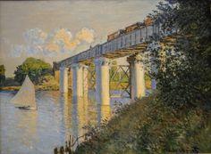 Claude Monet - Railroad Bridge Argenteuil, 1874 at the Museum of Art Philadelphia PA