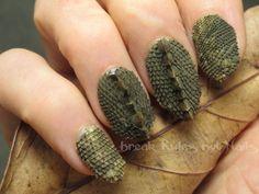 Lizard skin acrylic nails