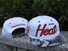 19149585450 NBA Hat Miami Heat White Cap Wholesale Hats
