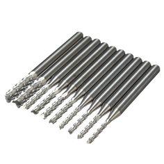 10pcs HSS Router Bit Trimmer Titanium Coated Holzbearbeitung Maschine Edge Cutters Trimmer 1//8/\ Shank