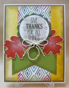 Savvy Handmade Cards: Autumn Colors Card
