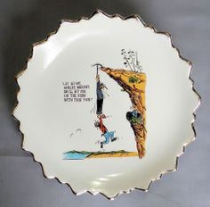 Vintage Irish Gag Joke Novelty Decorator Collector Plate
