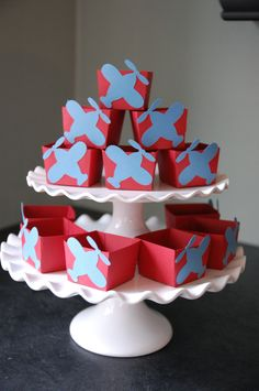 Airplane Candy Cups, Airplane Party Supplies, Airplane Birthday, Airplane Baby Shower, Airplane Decorations, 12 Pcs. $12.00, via Etsy.