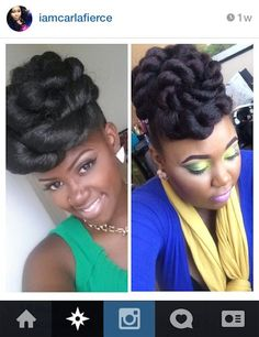 """imadethisforreasons: """" youngfashion-co: """" Essence- Protective Styles """" and look at how much of this is tight kinky hair. Love thy natural. Protective Hairstyles For Natural Hair, Natural Hair Updo, Natural Hair Styles, Sisterlocks, Cornrows, Locs, Scene Hair, Flat Twist, Weave Hairstyles"""