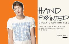 Printed Organic Cotton T-shirt for men NUCKY from MURIEE.com