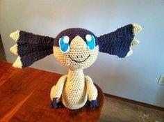 Helioptile - Pokemon Character - Free Amigurumi Pattern here: http://heartinflightcrochet.blogspot.com.es/2014/04/helioptile-crochet-plush-pattern.html