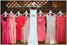 mismatched bridesmaid dresses  photo by Inkspot Photography // www.inkspotphotography.com