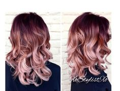 """27 Rose Gold Hair Color Ideas That Make You Say """"Wow!"""", Rose Gold Hair Color Gold Pink Hair Colors Fashion for certain colors and shades can walk in a circle for several years or regularly come back into us. Hair Color And Cut, Ombre Hair Color, Ombre Rose, Blonde Ombre, Faded Hair Color, Rose Hair Color, Cabelo Rose Gold, Rose Gold Baylage, Rose Gold Balayage Brunettes"""