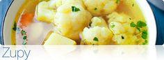 Przepisy na zupy! Cauliflower, Vegetables, Food, Cauliflowers, Essen, Vegetable Recipes, Meals, Cucumber, Yemek